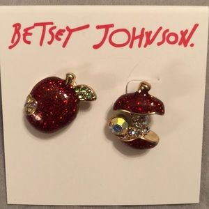 Betsey Johnson Apple earrings